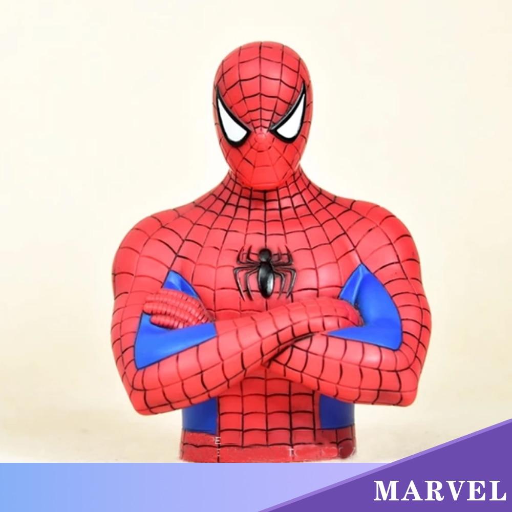 Marvel Avengers Spider Man Piggy Bank 17cm Action Figure Posture Anime Decoration Collection Figurine Toys Model Children