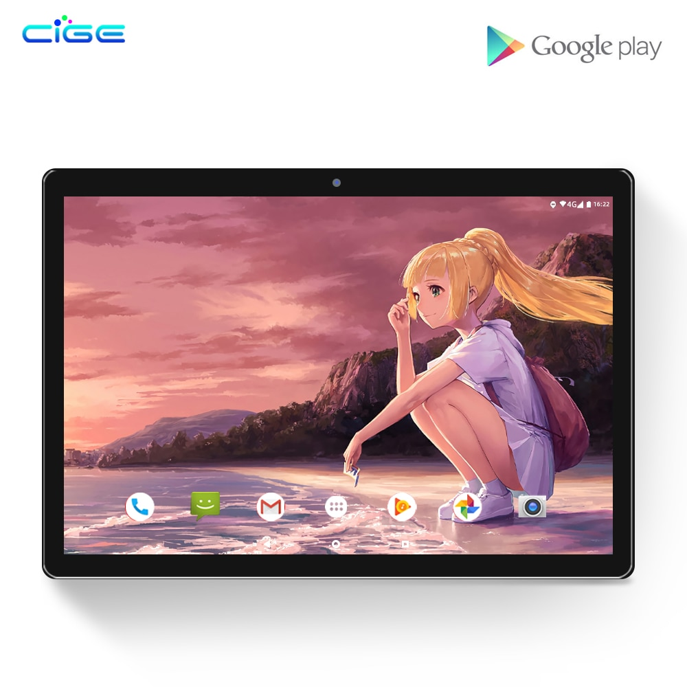 Tablet PC 10 Inch 1920x1200 Android 8.0 Pad Tab 6GB RAM 64GB ROM 10 Core CPU 4G LTE Network Phone Calls 2.4G 5G Dual WiFi