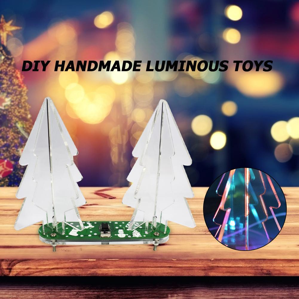 1 Набор, 3D рождественская елка, умелое производство, превосходное качество, изящный дизайн, декоративный светильник, набор для электронного ...