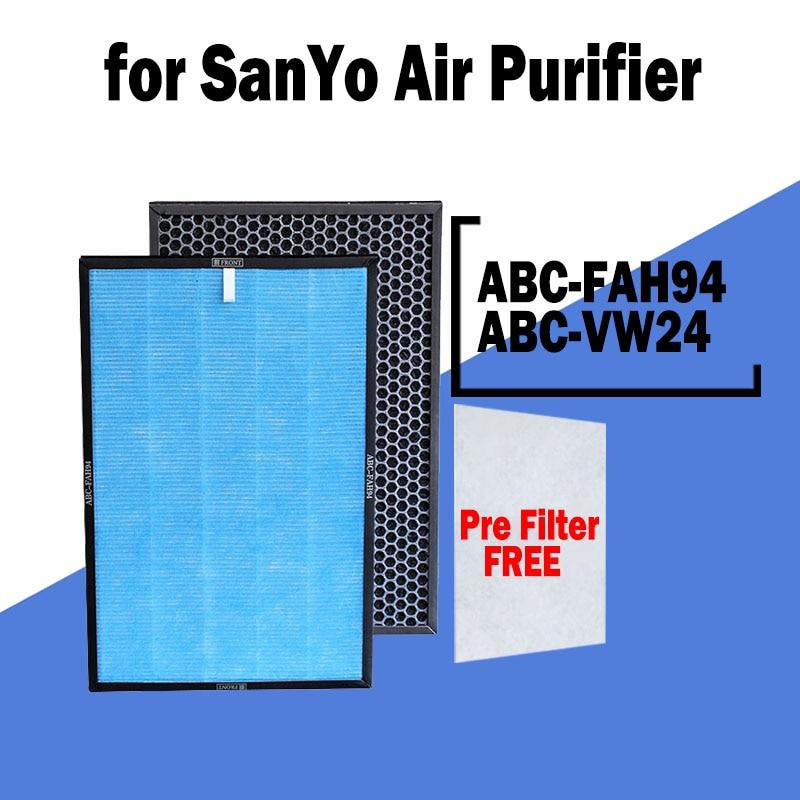 Air Purifier Parts ABC-FAH94 HEPA Filter for SanYo ABC-VW24 Air Purifier SanYo VW24 / 42.5*28.5*3cm