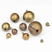 50Pcs/lot Vintage Retro 6-28mm Copper Jingle Bells For Wedding Party DIY Handmade Jewelry Accessorie