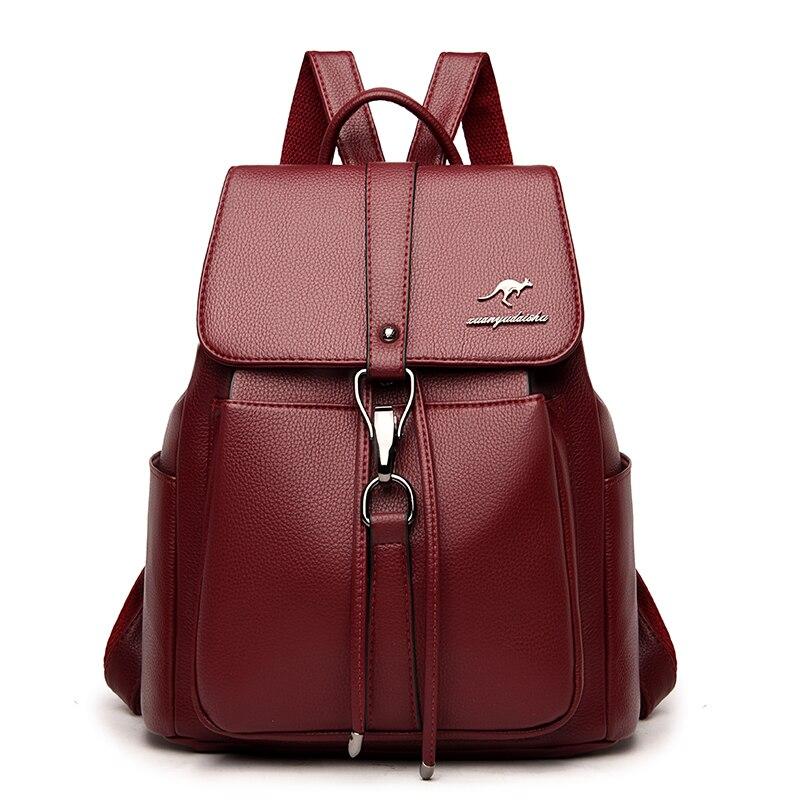 Женские кожаные рюкзаки, женские рюкзаки для девочек, школьная сумка для путешествий, Женский Повседневный Рюкзак Sac A Dos, Новинка