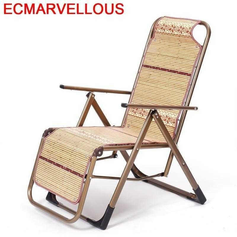 Dobravel-cama de día Reclinable Para salón, sillón Reclinable de bambú Para Sala de estar