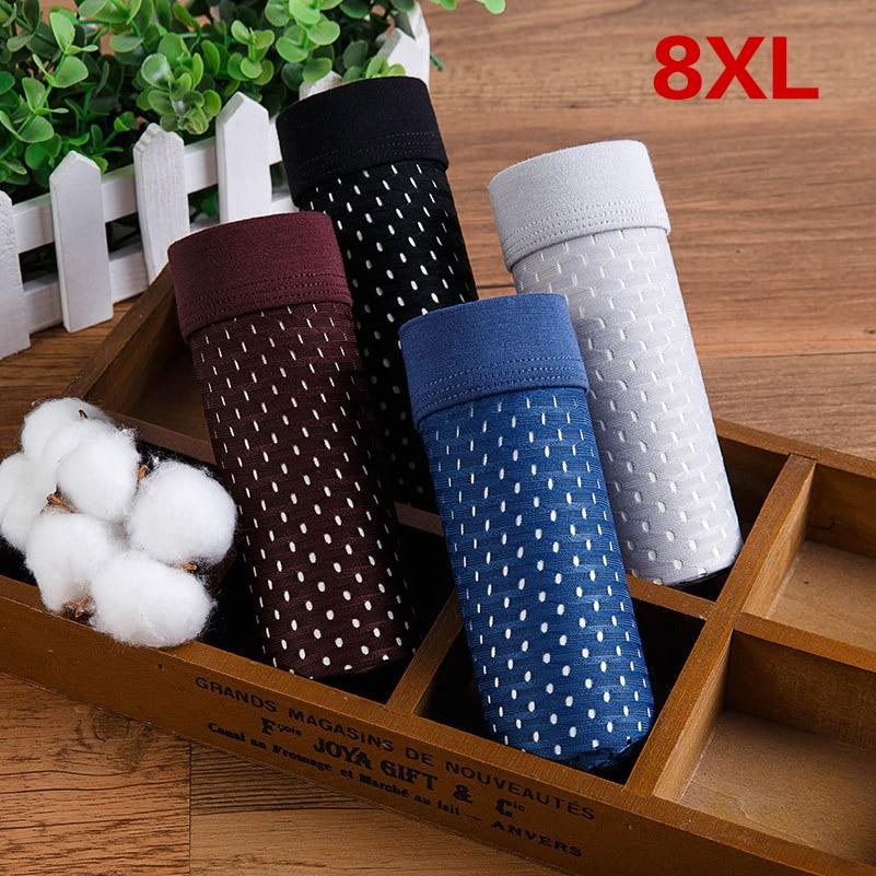 4pcs/lot Bamboo Fiber Men's Boxer Pantie Underpant plus size XXXXL soft Luxury Breathable Belt Shorts Modal 5XL 6XL 7XL 8XL