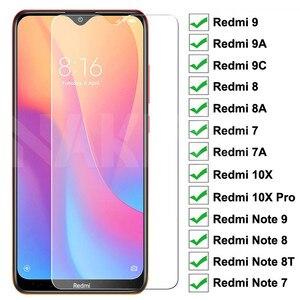 Защитное стекло 9H на весь экран для Redmi 9 9A 9C 8 8A 7 7A, для Xiaomi Redmi 10X Note 7 8 9 Pro 8T 9S, пленка из закаленного стекла, чехол