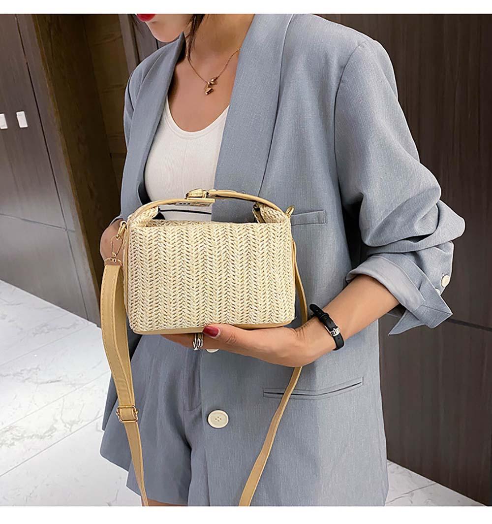 Mini Size Straw Crossbody Bag for Summer 2021