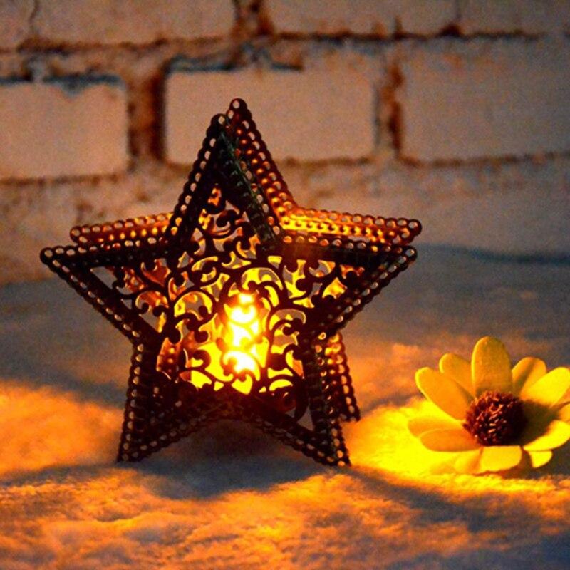 Soporte Para vela Retro De hierro, sala De estar candelabro decorativo Para,...