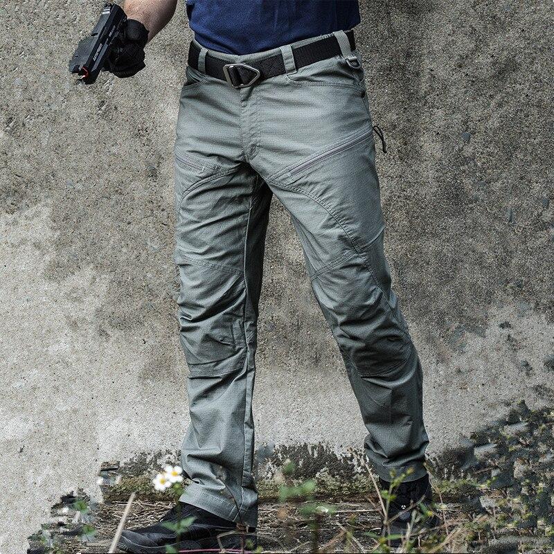 Calças táticas do exército dos homens combate militar rip-stop calças multi bolso à prova dwaterproof água trabalho casual calças de carga roupas S-2XL