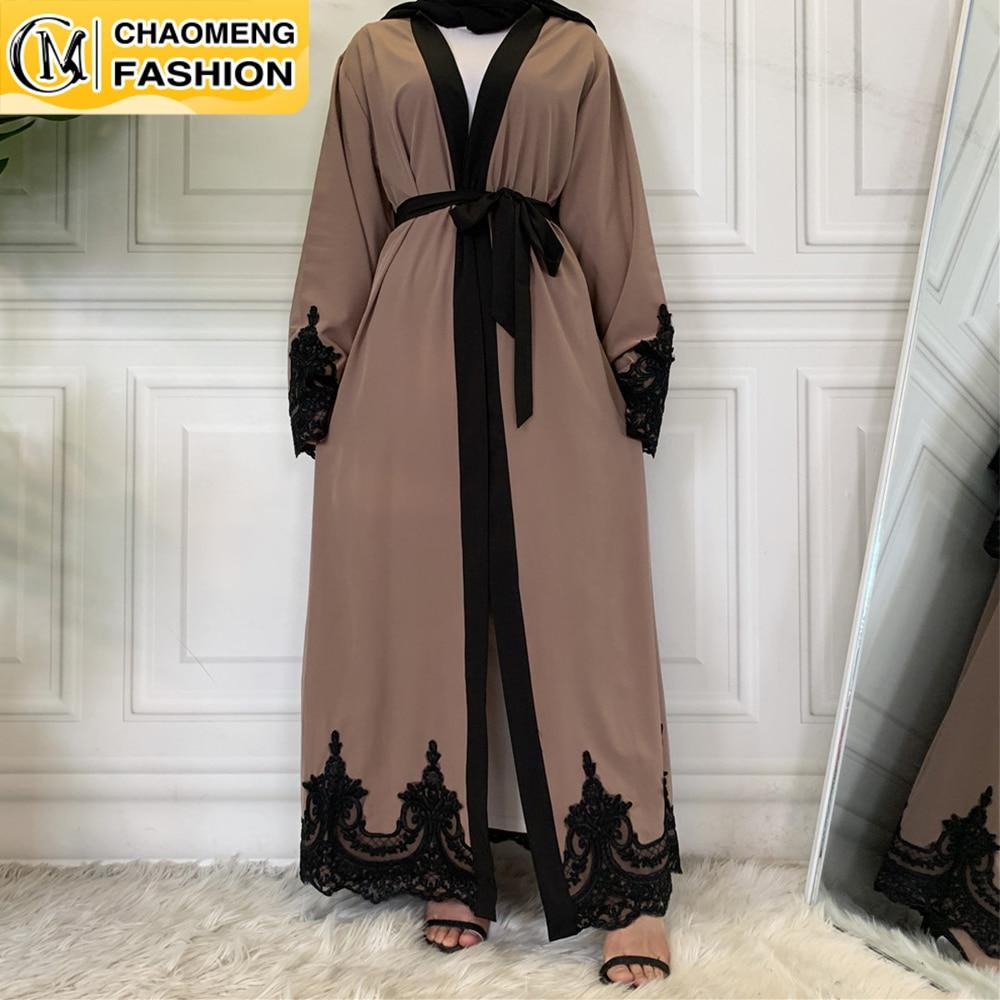 Cárdigan largo de encaje de Ramadán para mujer, moda de Oriente Medio,...
