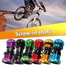 Accesorios para bicicleta, soporte inferior para bicicleta, tornillo tipo 68/73mm, eje para bicicleta, bicicleta de carretera de aleación de aluminio, soporte inferior