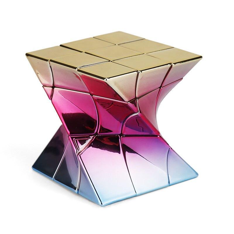 Mofangjiaoshi DNA Cube 3x3 Metalized Twisty Windmill Fisher Twisty Cube Cubo Magico Educational Toy  Drop Shipping