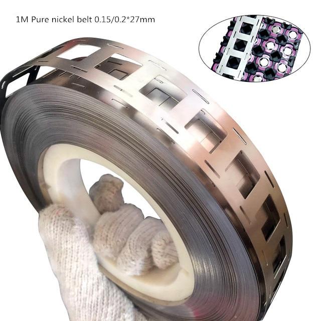 1M High purity Pure Nickel Strip 2P 0.15/0.2*27mm for battery spot welding machine Welder Equipment,18650 nickel