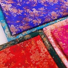 Tissu de satin de brocart largeur 114cm belle robe tissu matériel pour faire Cheongsam et Kimono