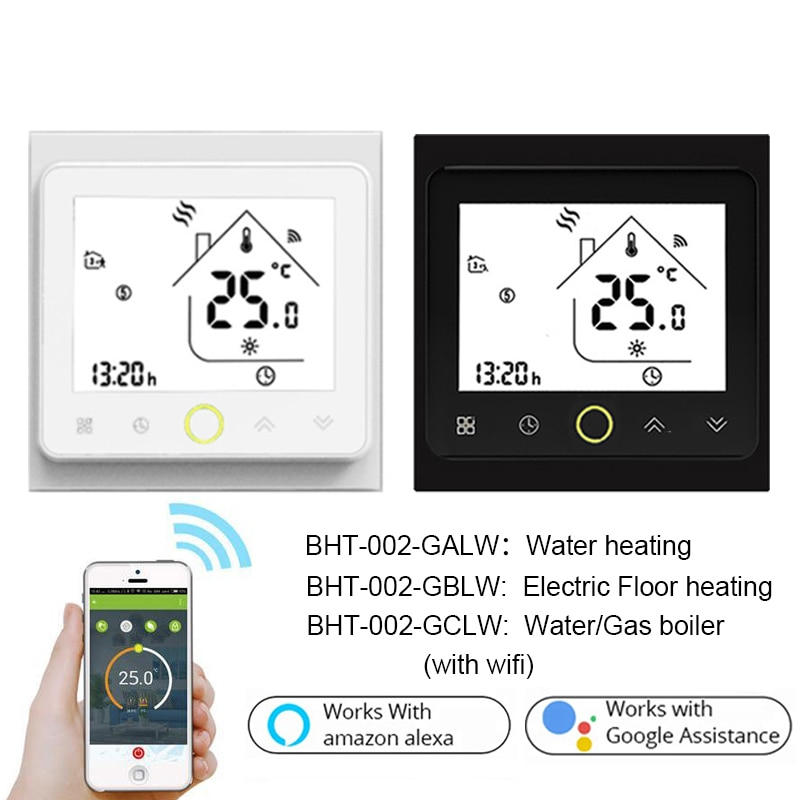 Smart WiFi Thermostat Temperature Controller Water Electric Warm Floor Heating Water Gas Boiler Works with Echo Google Home Tuya smart wifi tuya thermostat temperature controller gas boiler water heating electric heating thermoregulator floor controller