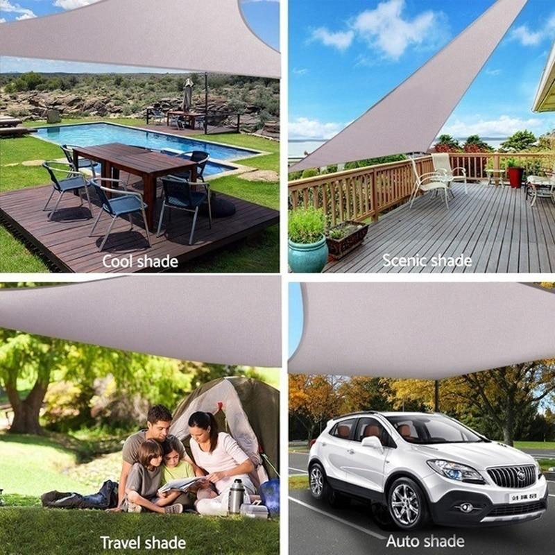 Bloque UV Triangular para exteriores, sombra solar, vela, cobertizo de lluvia para jardín, Parque GQ