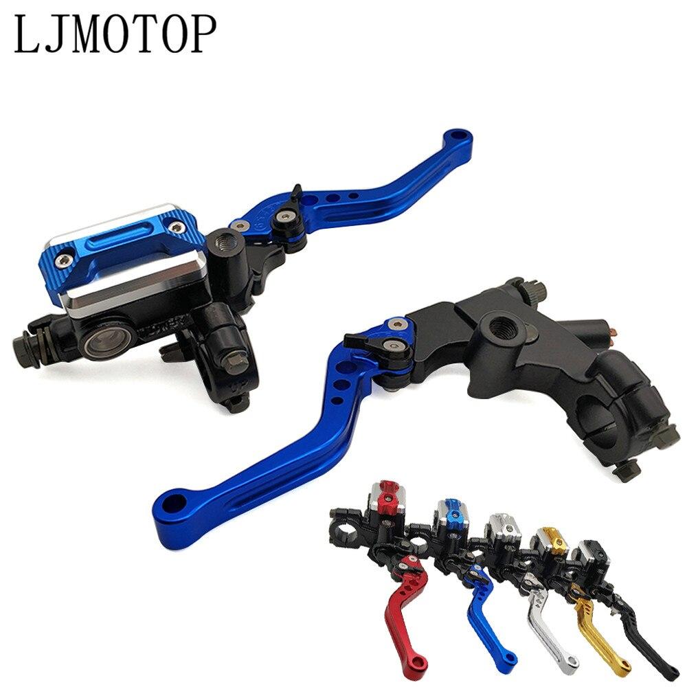 22mm Freno de motocicleta embrague cilindro maestro palanca Cable depósito de embrague para HONDA CRF450R CRF250X CRF450X CRF 450R 250X 450X