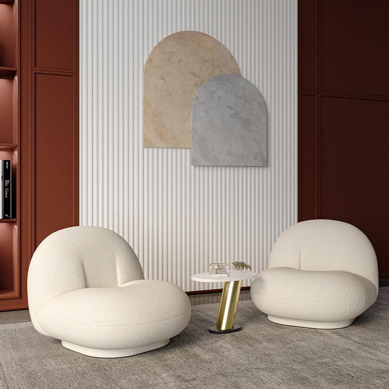 قطعة واحدة غير رسمية من جلد الغنم المخملي شقة بسيطة صغيرة غرفة المعيشة شرفة غرفة نوم تاتامي كسول لطيف أريكة كرسي الأثاث غرفة المعيشة