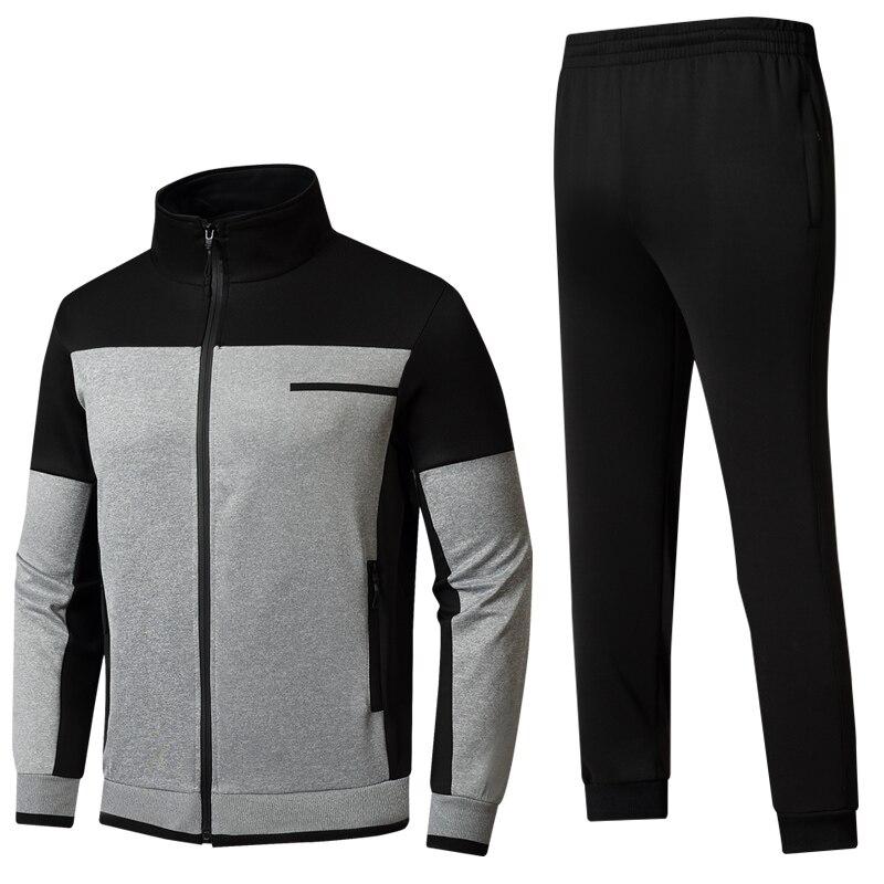 بدلة رياضية للرجال بدلة رياضية جديدة 2 قطعة مجموعة سترة + بنطلون ذكر ربيع الخريف الركض مجموعة ملابس كاجوال حجم الآسيوية