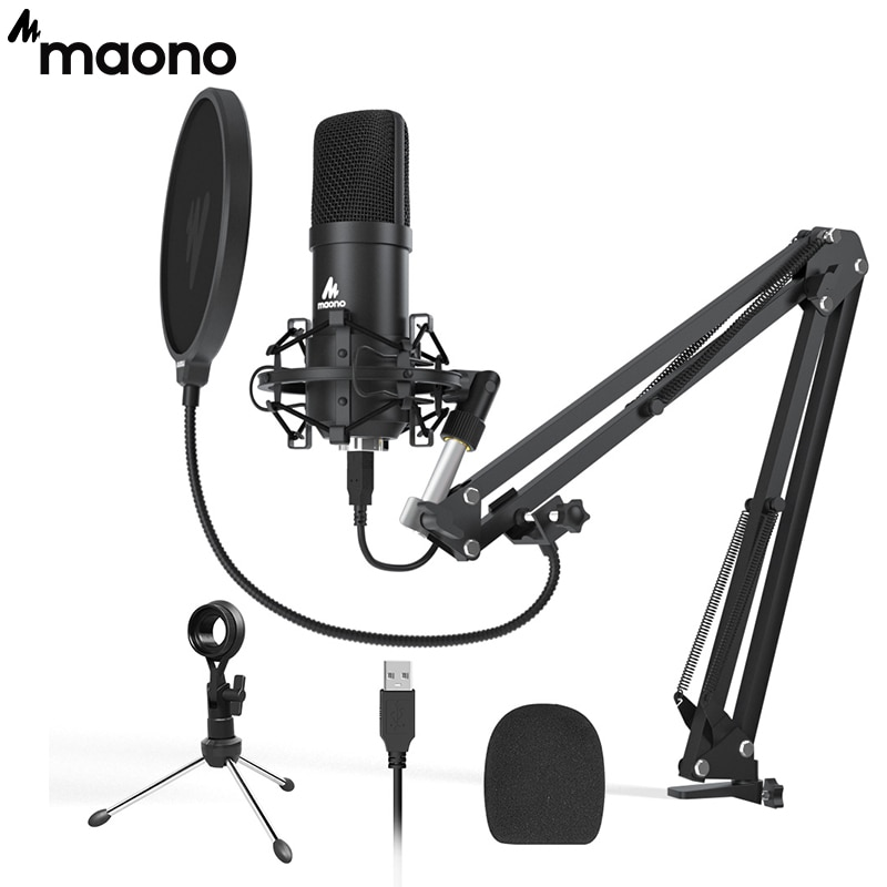 ميكروفون مكثف من mauno A04 Plus مزود بمنفذ USB بقدرة 192 كيلو هرتز/24 بت ميكروفون احترافي للبودكاست للكمبيوتر ، الجري ، الألعاب ، يوتيوب ، ASMR
