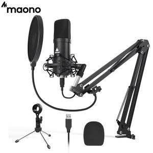 MAONO A04 Plus USB Condenser Microphone 192kHz/24bit Professional Podcast PC Mic for Computer, Streaming, Gaming, YouTube, ASMR