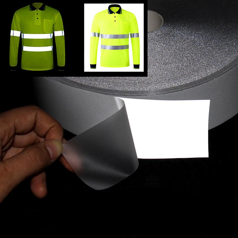 5M Reflective Strip Heat Transfered 2cm/5cm Reflective Tape Sticker Material for Bag Shoes Handmade Iron on Roadway Safety