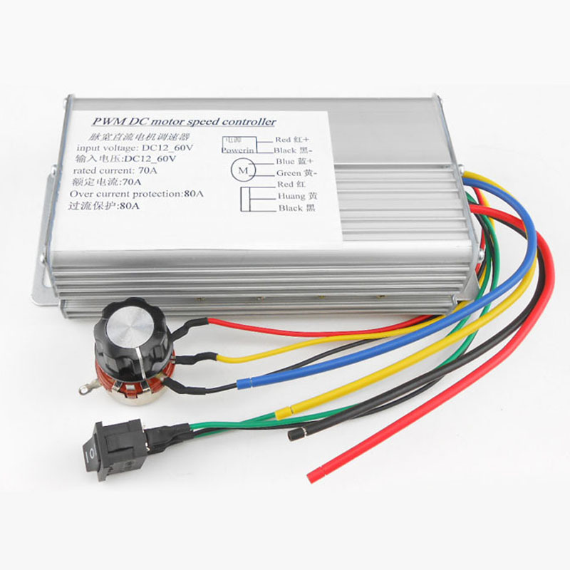 Motor PWM Speed Control Brush Controller 150 X 85 X 45mm Drivers Starters Motor