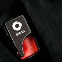 hidden car seat belt buckle alloy silencer clip custom logo car accessories for smart fortwo forfour 453 451 450