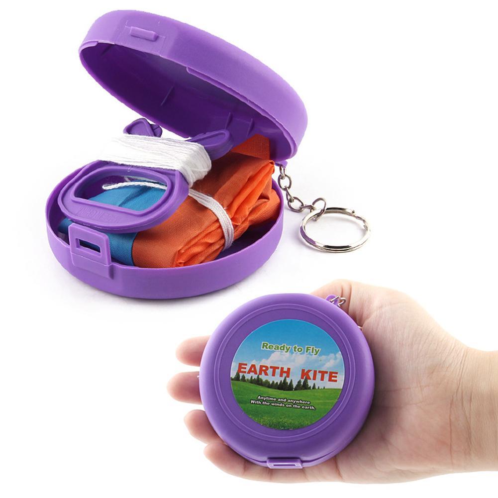 Juguetes de exterior cometa plegable para niños juguete de exterior de bolsillo suave cometa plegable con caja de almacenamiento Material de tela de alta calidad