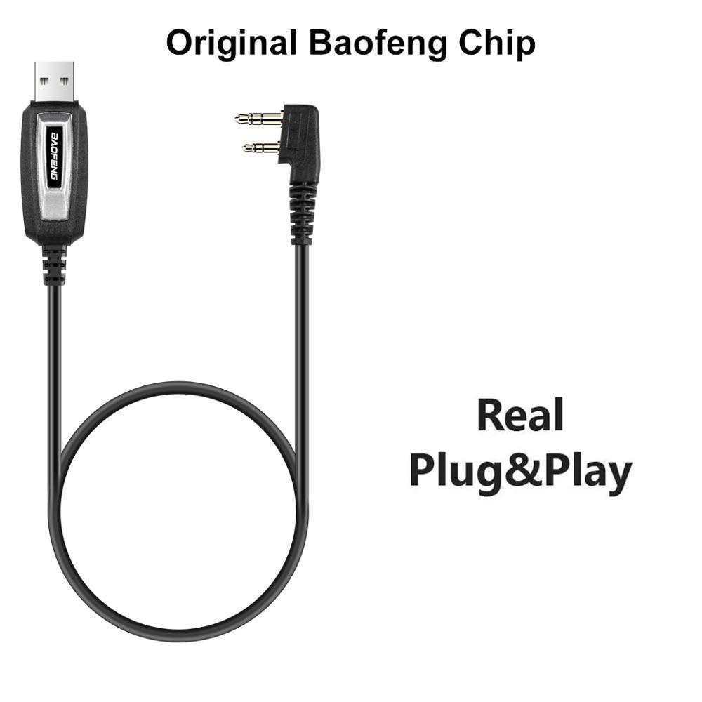 BAOFENG – câble de programmation USB à 2 broches pour walkie-talkie série UV-5R Kenwood wouxun, accessoires