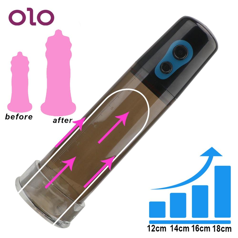 Автоматический пенис OLO для увеличения пениса, мужские инструменты для упражнений, насос для пениса, секс-игрушки для мужчин, вакуумный насо...