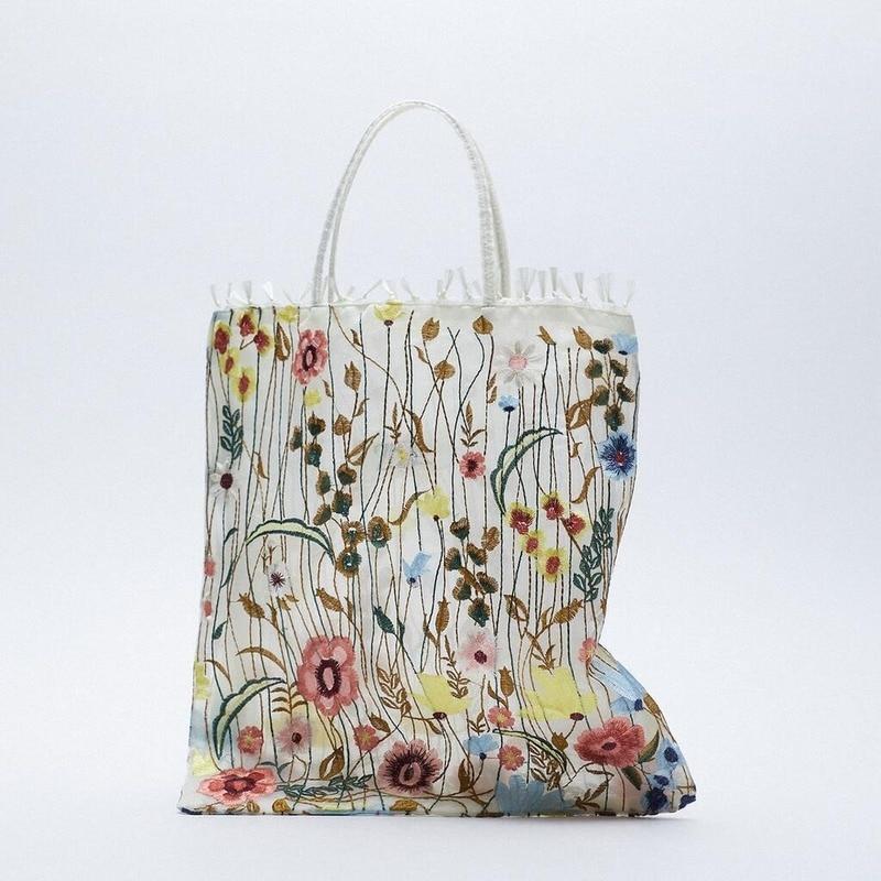 زهرة التطريز حقيبة كتف حقائب للنساء حقيبة يد فاخرة النساء حقائب مصمم الصيف التسوق حقيبة شاطئية للنساء 2021