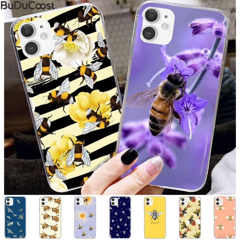 Honeycomb miód pszczoła luksusowe etui na telefony dla iphone 11 Pro11 Pro Max X 8 7 6 6S Plus 5 5S SE cass