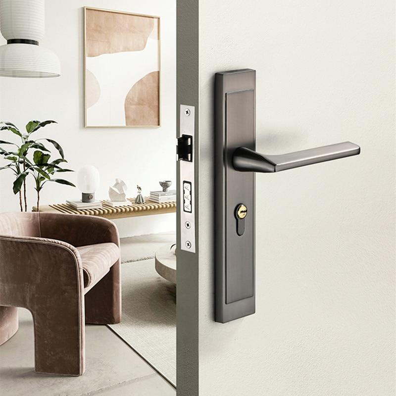 سبائك الزنك سلامة مكافحة سرقة قفل باب غرفة نوم المنزل كتم قفل الأساسية فندق الميكانيكية مقبض قفل الأجهزة لوازم اكسسوارات