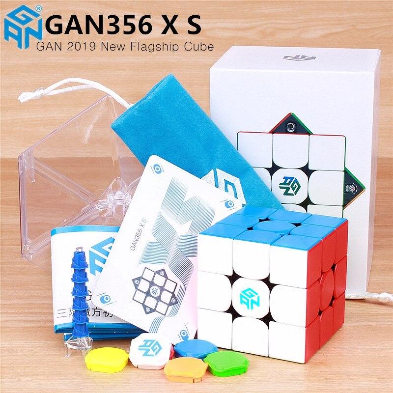 Gan356 x s magnético magia velocidade cubo gan356x profissional gan 356 x ímãs quebra-cabeça gan 356 xs gans cubos