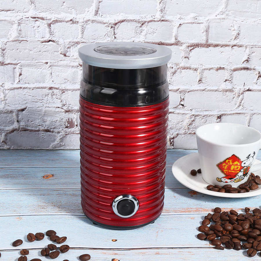 Electric Coffee Grinder 300W Powerful Home Beans Spices Seed Herbs Nut Double Blade Bean EU Plug 220V
