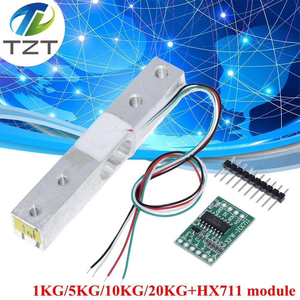 TZT Load Cell Weight Sensor 1KG 5KG 10KG 20KG HX711 Module Electronic Scale Aluminum Alloy Weighing Pressure Sensor Ad Module