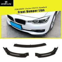 Front Bumper Lip Splitters Spoiler for BMW 3 Series F30 F31 Standard 2013 - 2018 ABS Carbon Fiber Look / Glossy Black
