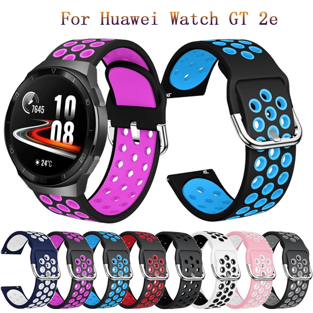 22 мм мягкий силиконовый ремешок для часов для Huawei watch GT 2e Сменные умные аксессуары ремешок для часов Huawei GT1 GT2 46 мм Ремешки для часов      АлиЭкспресс