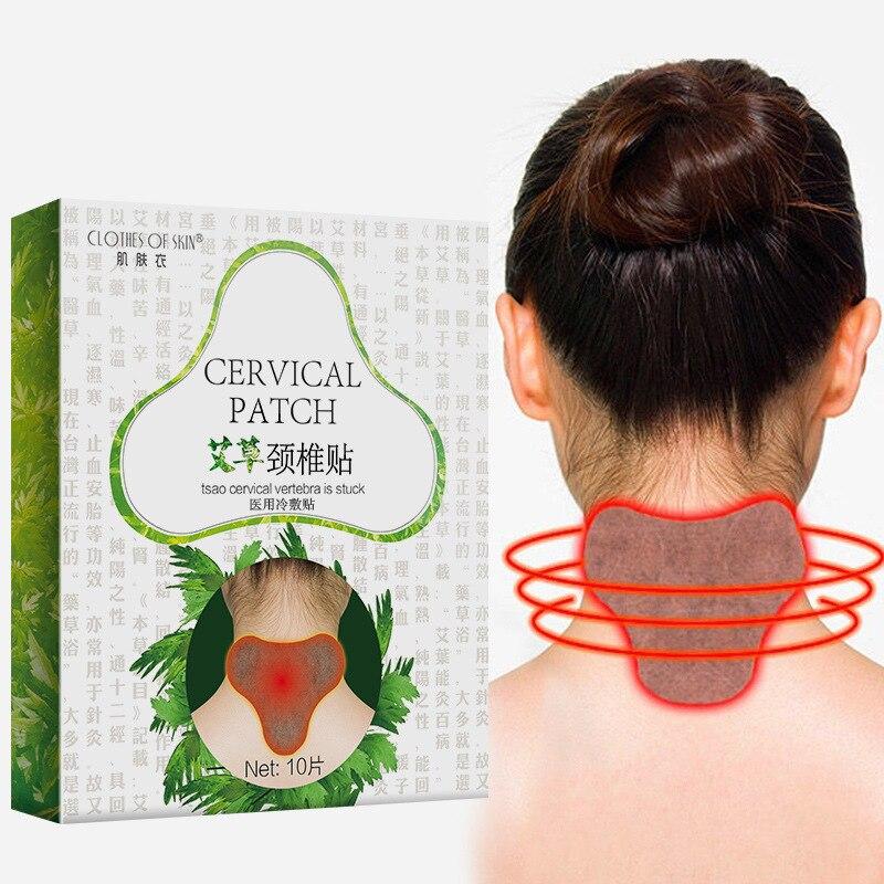 12 Uds. Cuello de ajenjo médico yeso articulación dolor Espondilosis Cervical alivio del dolor etiqueta adhesiva artritis reumatoide parche D1884