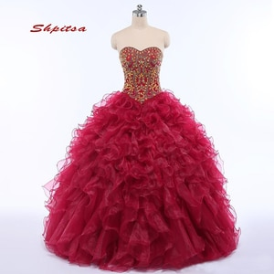 Puffy Quinceanera Dresses Ball Gown Sweet Sixteen 16 Princess Plus Size Luxury Masquerade Prom Dresses Gown for 15 Years