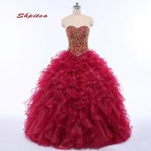 Puffy Quinceanera robes robe de bal doux seize 16 princesse grande taille luxe mascarade robes de bal robe pour 15 ans