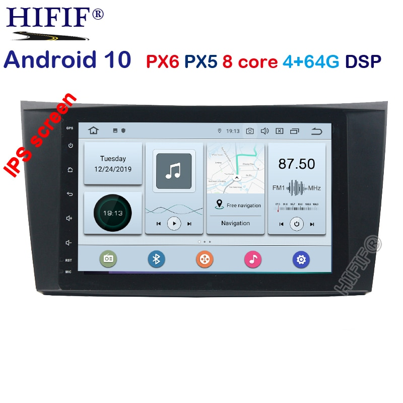 Android 10,0 8 Core 2 Din DVD GPS de coche para Mercedes W211 W219 W463 CLS350 CLS500 CLS55 E200 E220 E240 E270 E280 reproductor multimedia