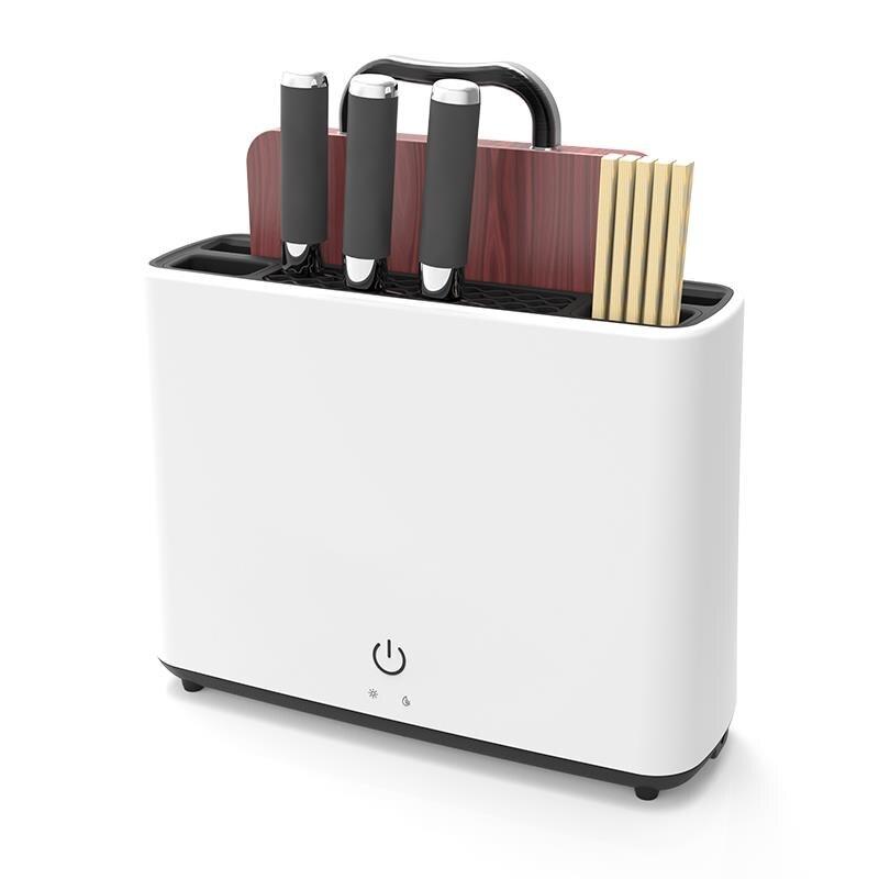 Esterilizar desinfecção suporte de faca uv esterilização secagem armazenamento cozinha bloco ferramentas facas acessórios do hotel