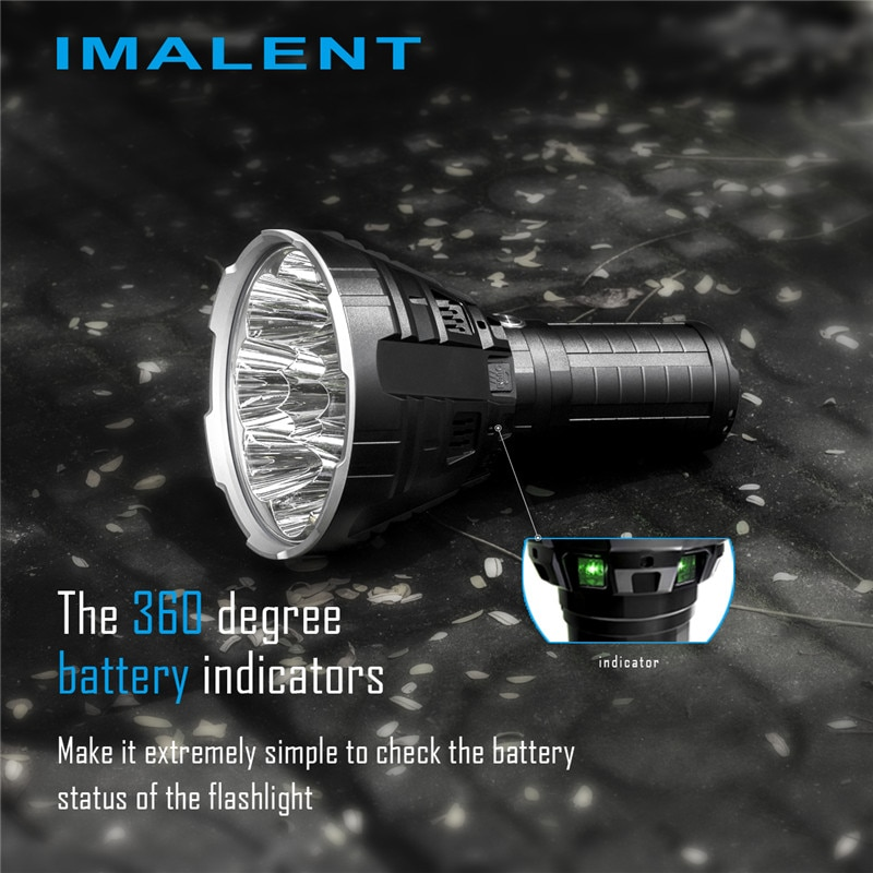 IMALENT R90C Powerful Rechargeable Flashlight Torch Outdoor Lantern Camping Ultra Bright 20000LM Waterproof Cree XHP Led Lamp enlarge