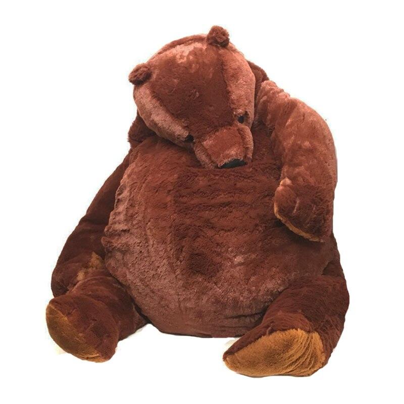 100 см коричневый плюшевый мишка DJUNGELSKOG, плюшевые игрушки, мягкие плюшевые животные, плюшевый мишка, подушка, кукла для девочки, мягкая подушк...