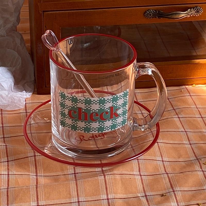 في الهواء الطلق لطيف صغير القهوة القدح الفاخرة الإفطار الزجاج أكواب القهوة أكواب لطيف فنجان شاي مجموعة Tazas مقهى القهوة كوب زجاجي درينكوير