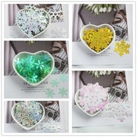 colorful snowflake shape loose sequins paillettes sewing craft women garments bags children craft diy accessories 2021 new