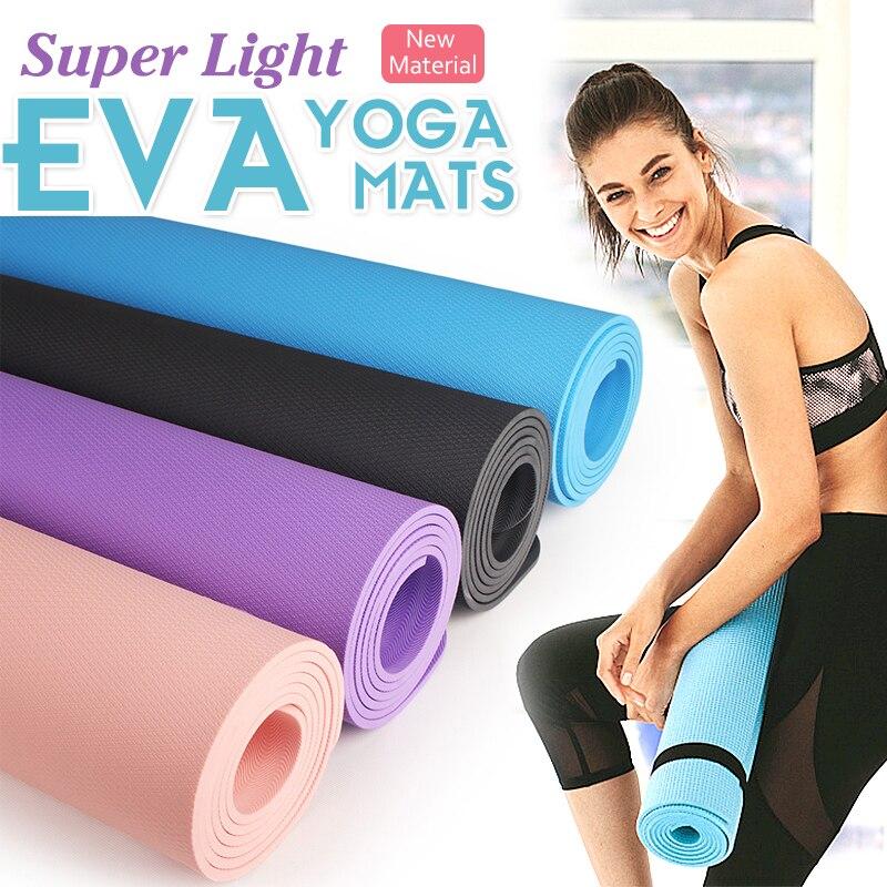 EVA Yoga Mat With Position Line Fitness Gymnastics Mats Double Layer Non-slip Beginner Sport Carpet Pads Women 6mm Mats Yoga New