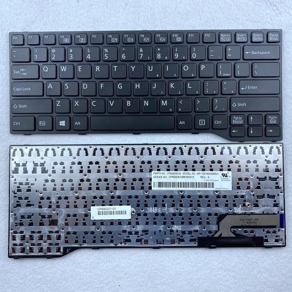 لوحة مفاتيح كمبيوتر محمول أمريكية ل فوجيتسو E733 E734 E743 E744 U745 E546 E547 E544 E736 E746 سلسلة تخطيط الولايات المتحدة