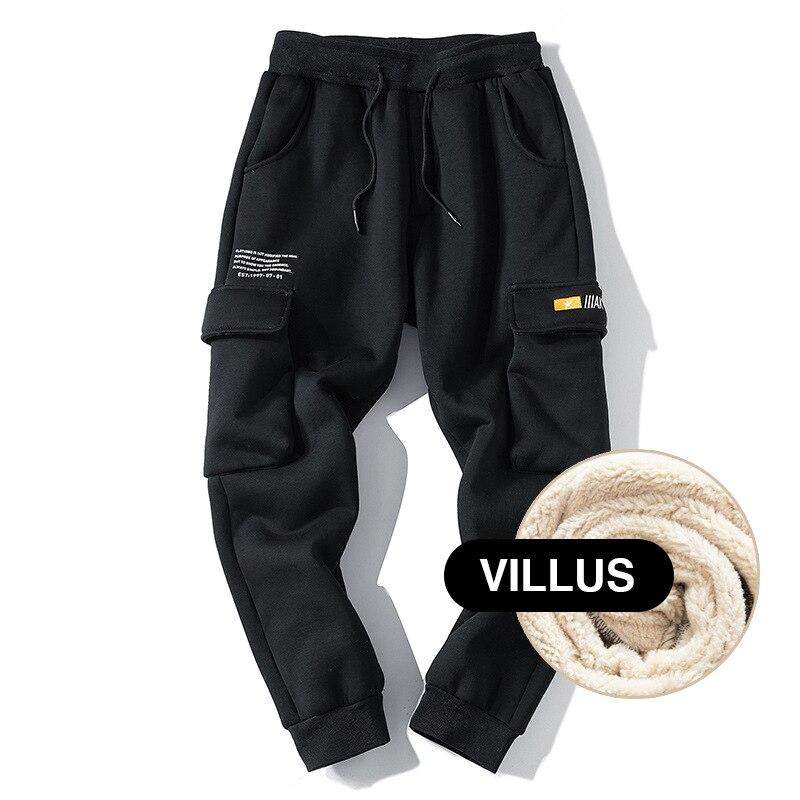 Зимние спортивные штаны мужские уличные Джоггеры мужские брюки карго теплые штаны из овечьей шерсти мужские модные повседневные брюки